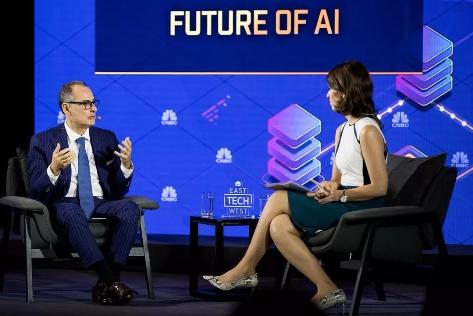 IBM包卓蓝出席CNBC全球科技大会:只有14%的中国企业正在积极使用人工智能