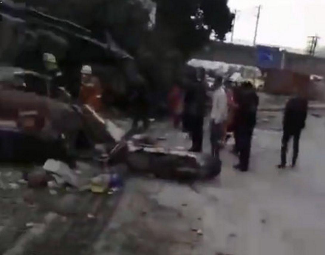 重型半挂牵引车撞民房致7死 现场救援及事故原因调查正在进行中