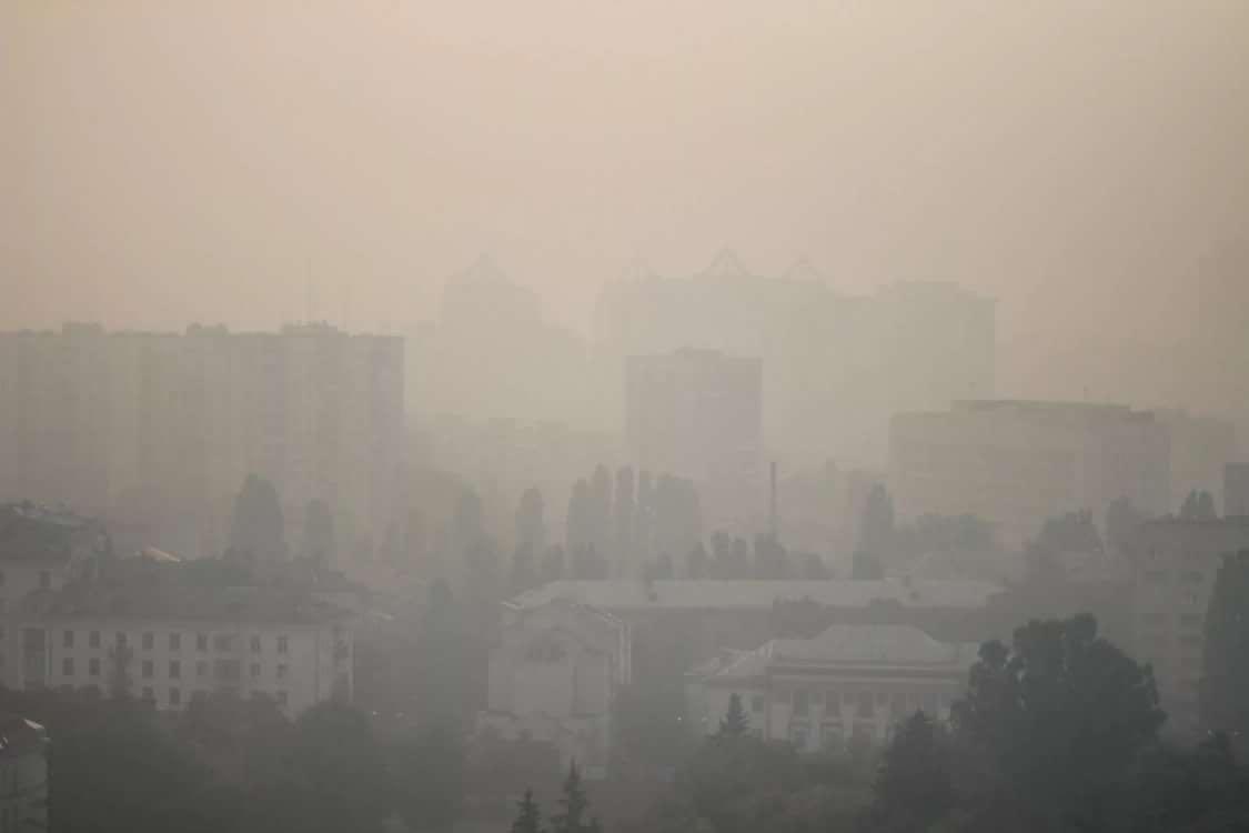 强风致切尔诺贝利禁区林火复燃 乌克兰首都污染爆表