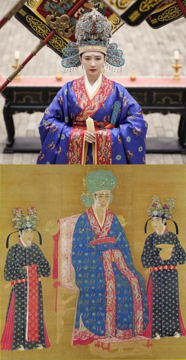 《宋仁宗后坐像》与《清平乐》海报对比