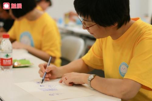 体验绘画治疗,触漫联手壹心理Cares开展线下亲子心理课堂