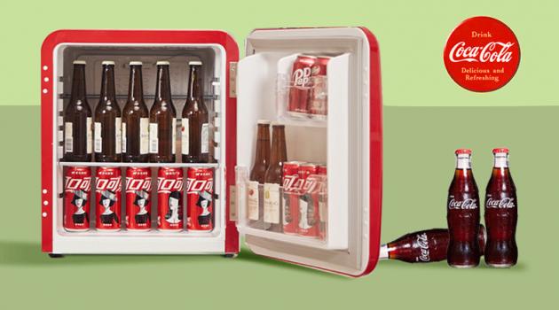 夏日解暑神器!HCK哈士奇x可口可乐联名款复古小冰箱