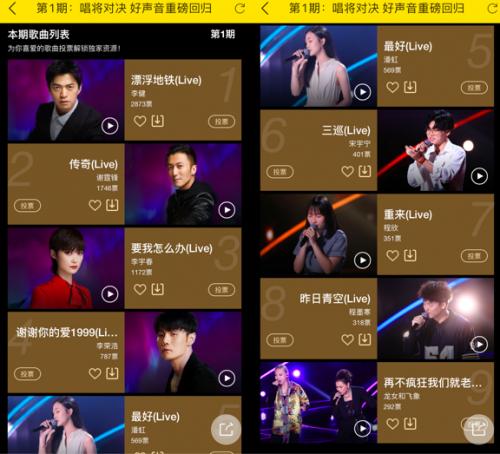 酷我音乐上线中国好声音歌单,首期四大导师金曲霸榜出击