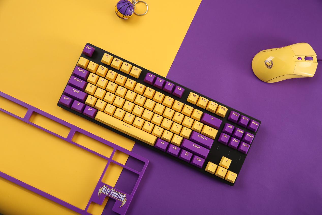 KEEP FIGHTING ▎达尔优发布A87紫金版樱桃轴机械键盘