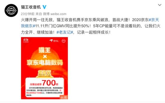 京东11.11助力国货品牌C位出道,猫王全民热捧销额同比增50%