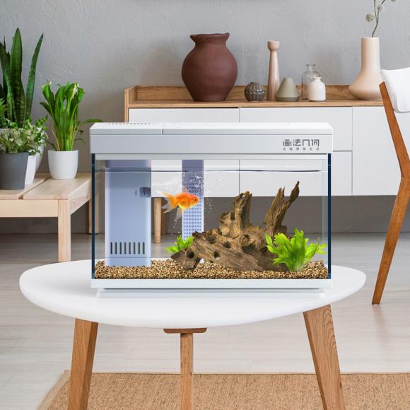 画法几何智能鱼缸支持远程操控,随时随地照顾鱼儿的起居生活