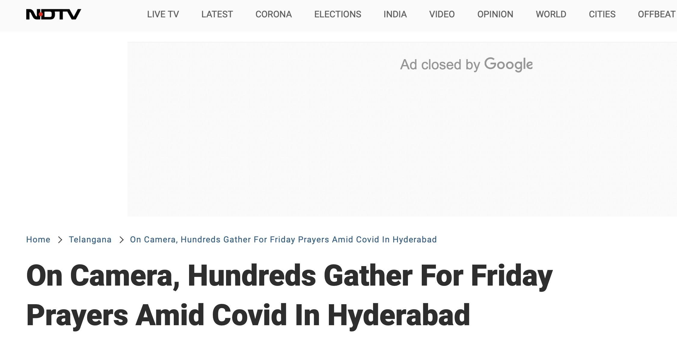 不顾防疫规定,印度一地数百人聚集祈祷:不戴口罩,也没保持社交距离