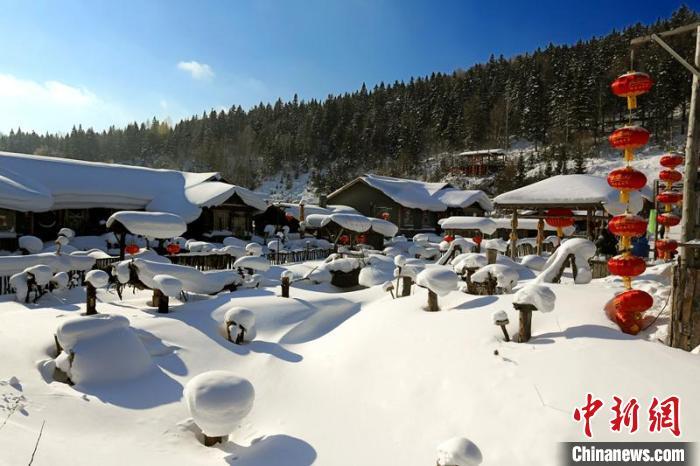 雪乡风景区的迷人雪景 黑龙江省文化和旅游厅供图 摄