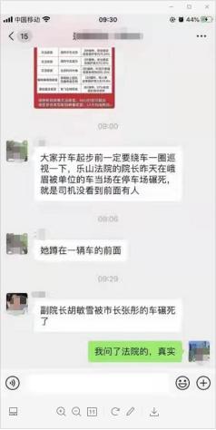 四川乐山中院一副院长车祸身亡,有称市长车误轧,当地回应:没听说