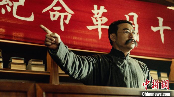 演员张颂文在电影《革命者》中饰演李大钊。 电影片方提供